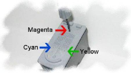 Инструкция по заправке картриджа Canon CL-38 водный техцветный