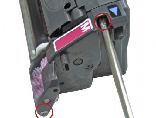 Инструкция по заправке картриджа HP Color LaserJet 1500 - №4 Как заправить HP 1500